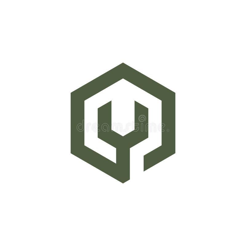 Vektor f?r logo f?r form f?r skiftnyckelsexh?rningsask vektor illustrationer