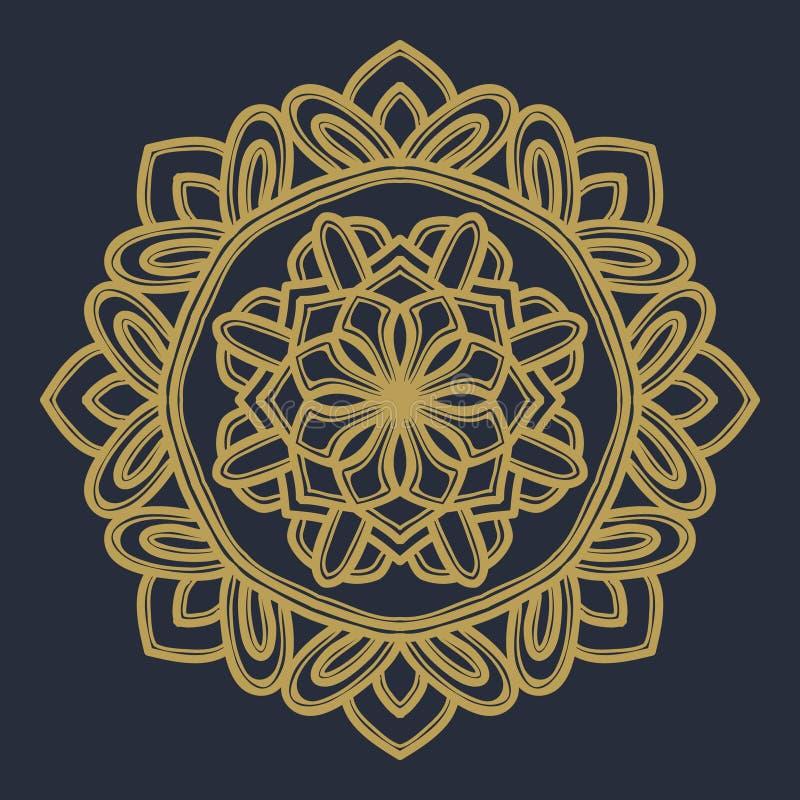 Vektor f?r Mandalablommaillustration royaltyfri foto