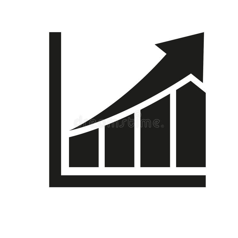 vektor f?r rapport f?r diagramsymbolsillustration Enkel vektorillustration vektor illustrationer
