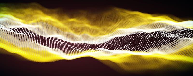 Vektor f?r solid v?g Vibration f?r vektormusikst?mma, digitalt spektrum f?r s?ngwaveform, ljudsignal puls och waveformfrekvens royaltyfri illustrationer
