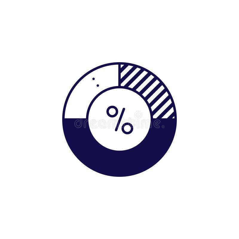 Vektor f?r symbol f?r pajdiagram Översiktsstildiagram vektor illustrationer