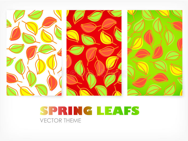 Vektor - farbige Fahnen mit Blättern stockbilder