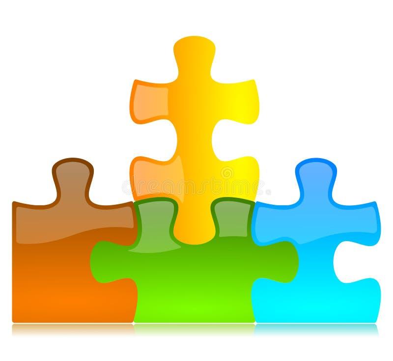 Vektor farbige Puzzlespiel-Stücke stock abbildung
