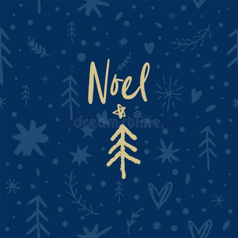Vektor festliches Noel-Muster, Verzierung, Weihnachts- und des neuen Jahresthema vektor abbildung