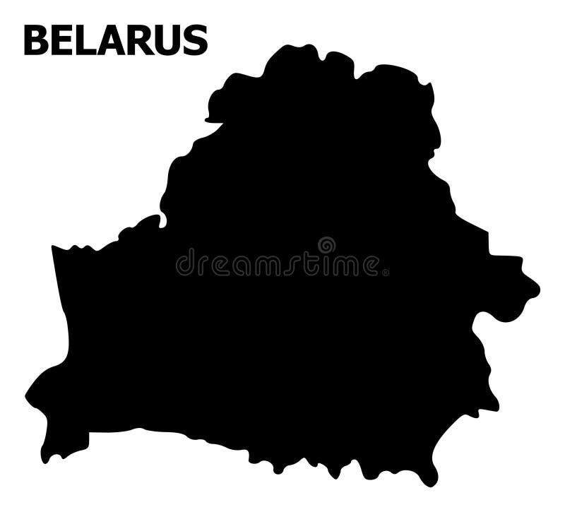Vektor-flache Karte von Weißrussland mit Namen lizenzfreie abbildung