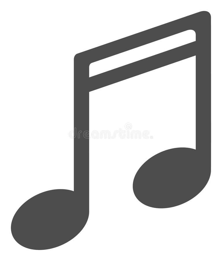 Vektor-flache Musik-Anmerkungs-Ikone lizenzfreie abbildung