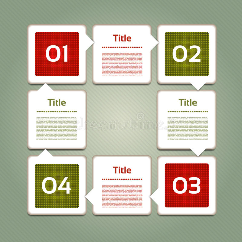 Vektor-Fortschritts-Hintergrund/Produktauswahl oder Version stock abbildung