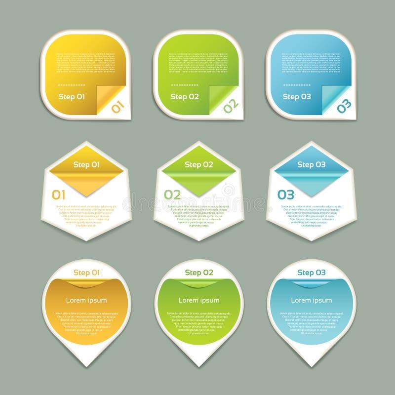 Vektor-Fortschritts-Hintergrund/Produktauswahl oder Version lizenzfreie abbildung