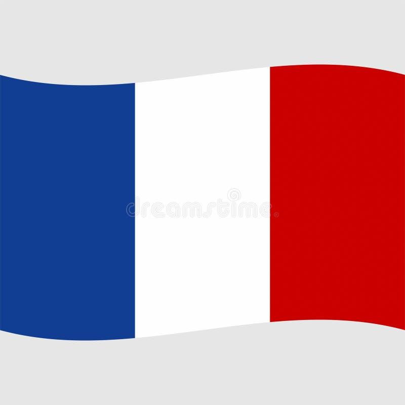 Vektor Frankreich-Flagge auf Lager 2 stock abbildung