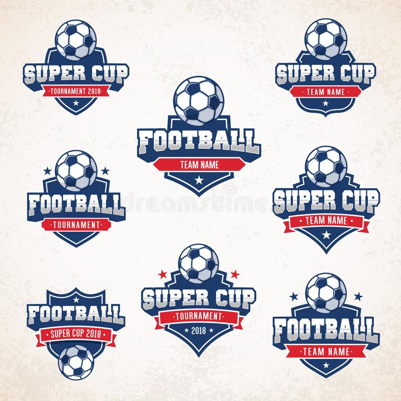 Vektor Fussball Fussball Logos Vektor Abbildung Illustration