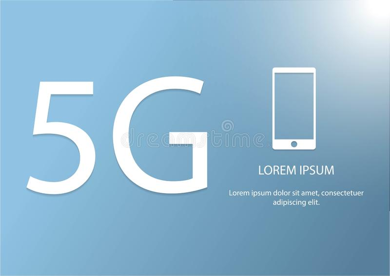 Vektor 5G och telefonsymbol Mobil n?tverkslogotyp f?r ny 5th utveckling snabbt symbol f?r tr?dl?sa system f?r anslutning stock illustrationer