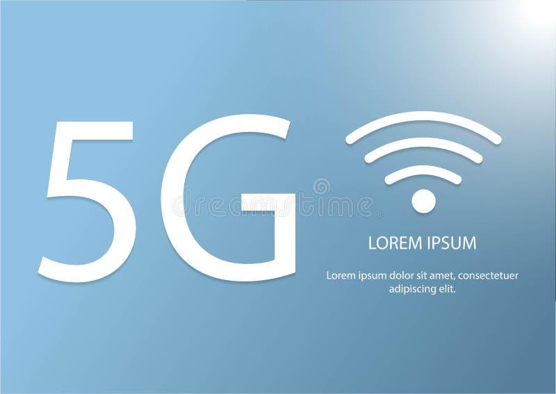 Vektor 5G och wifisymbol Mobil n?tverkslogotyp f?r ny 5th utveckling snabbt symbol f?r tr?dl?sa system f?r anslutning royaltyfri illustrationer