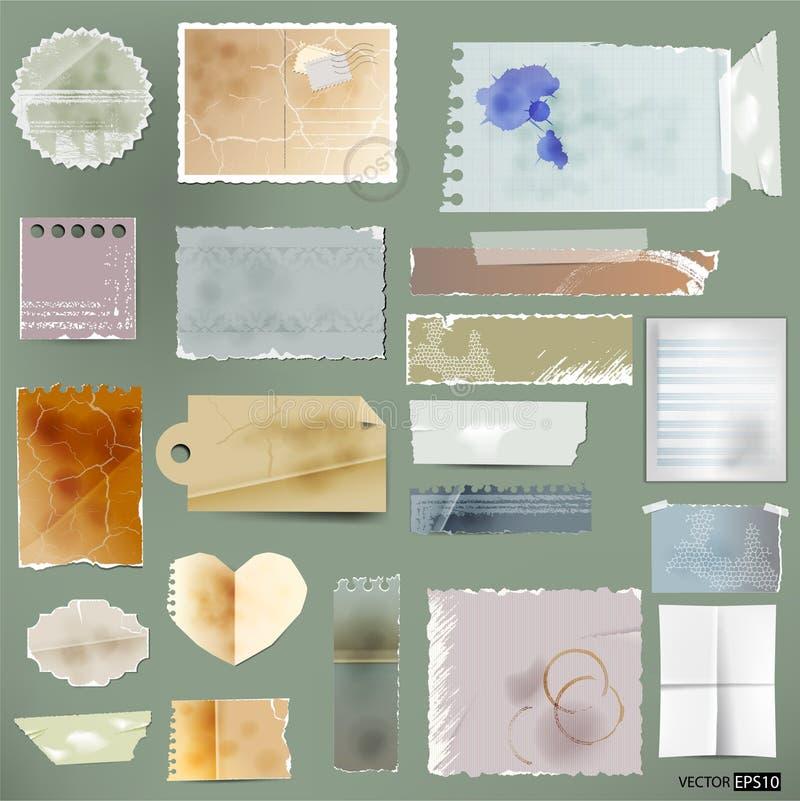 Vektor gealtertes Papier. lizenzfreie abbildung