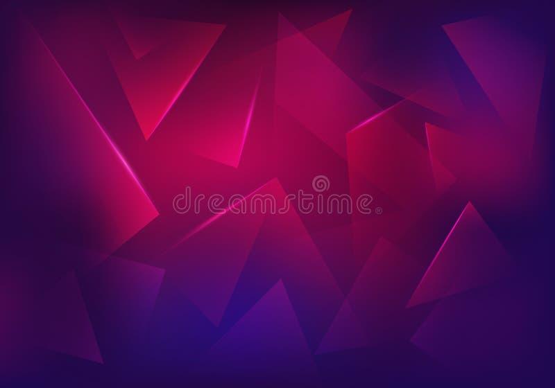Vektor gebrochener purpurroter Glashintergrund vektor abbildung