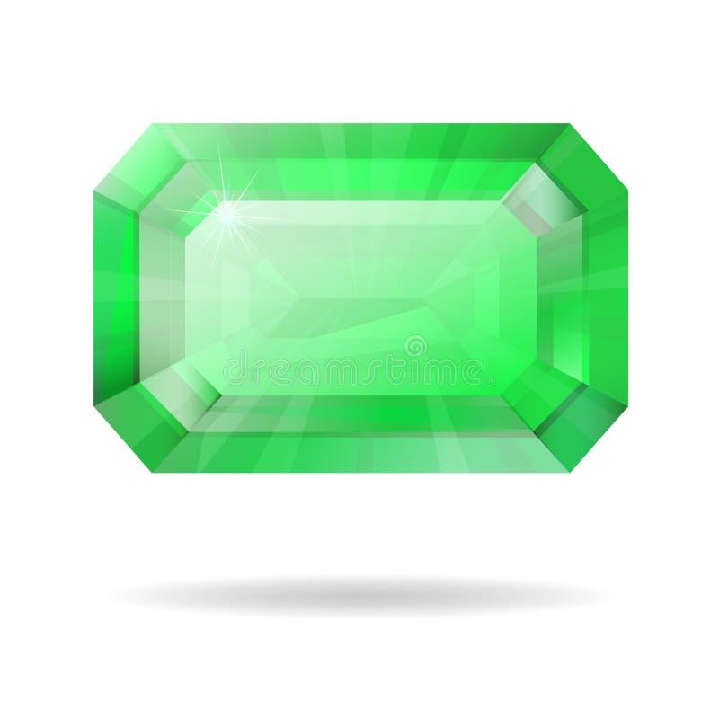Vektor getrennter Smaragd lizenzfreie abbildung
