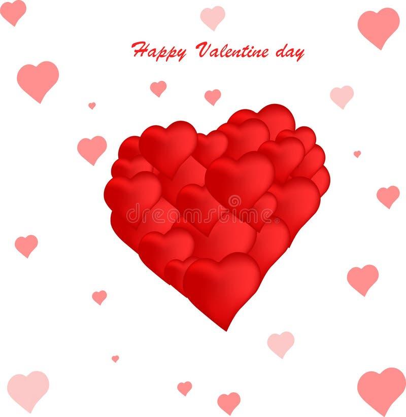 Vektor-glücklicher Valentinstag stockbild
