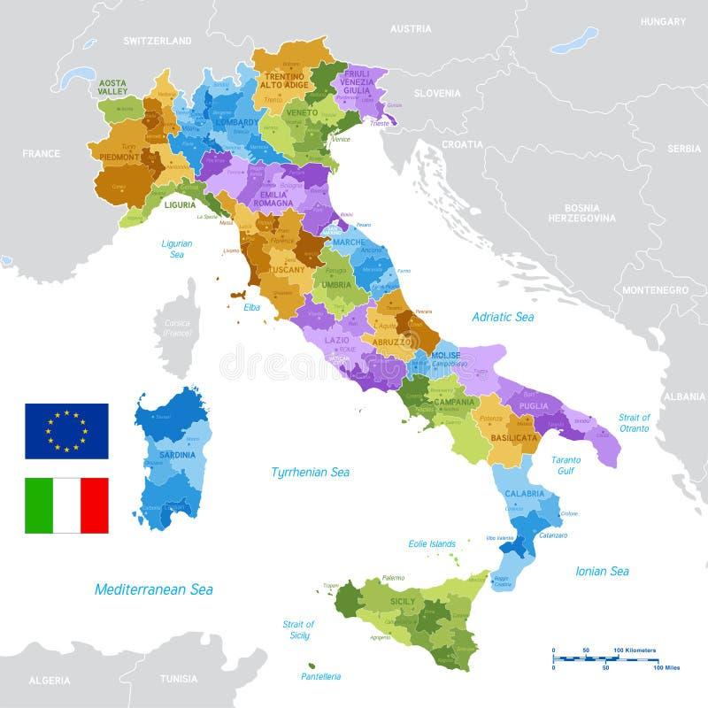 Vektor-grüne Karte von Italien vektor abbildung