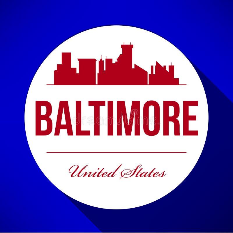 Vektor-Grafikdesign von Baltimore-Stadt-Skylinen stock abbildung