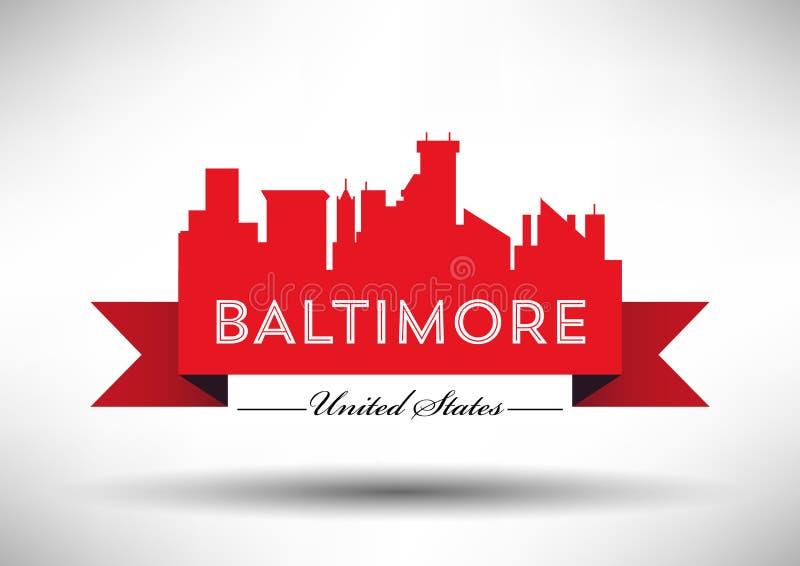 Vektor-Grafikdesign von Baltimore-Stadt-Skylinen vektor abbildung