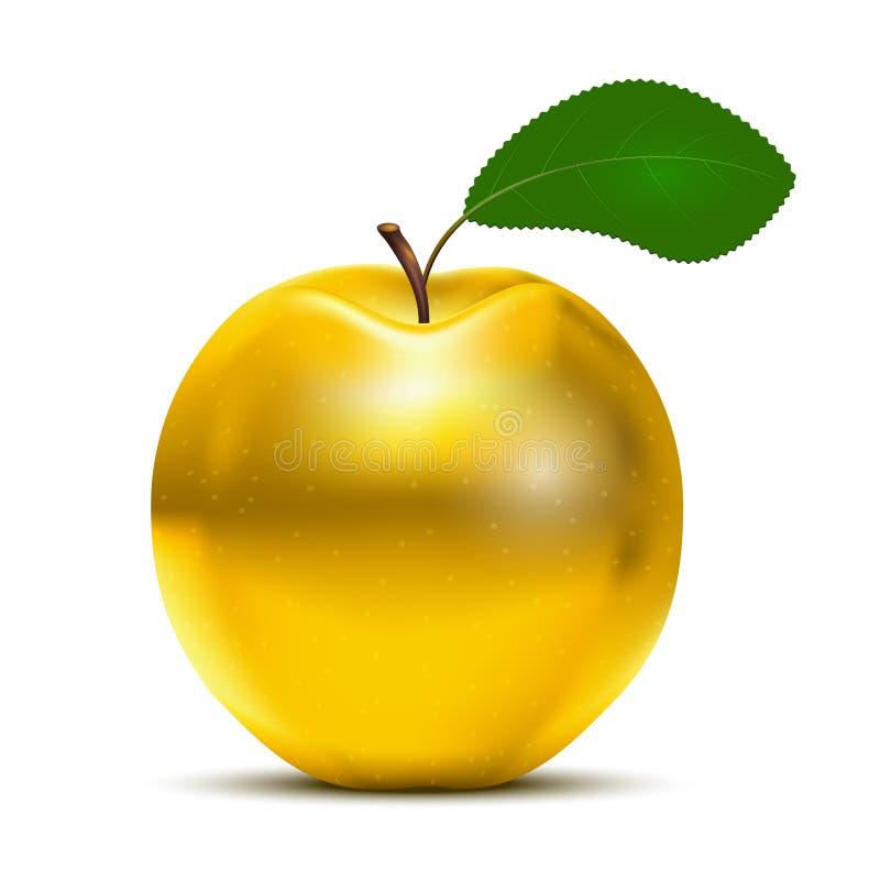 Guld- Apple vektor illustrationer