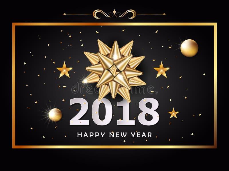 Vektor-guten Rutsch ins Neue Jahr-Hintergrund und Feierweihnachtstag lizenzfreie abbildung