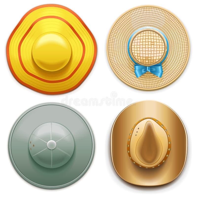 Vektor-Hüte stellten 2 ein lizenzfreie abbildung