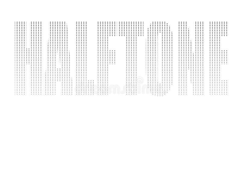 Vektor halftoned Wort ` Halbton-` lizenzfreie stockfotos