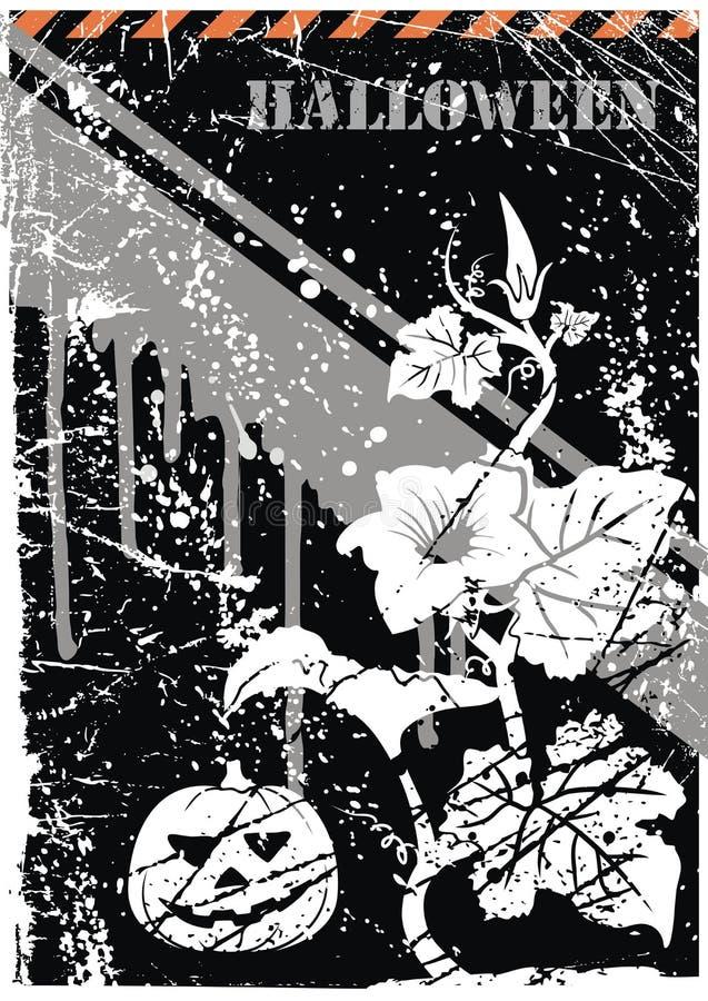 Vektor. Halloween grunge Postkarte lizenzfreie abbildung
