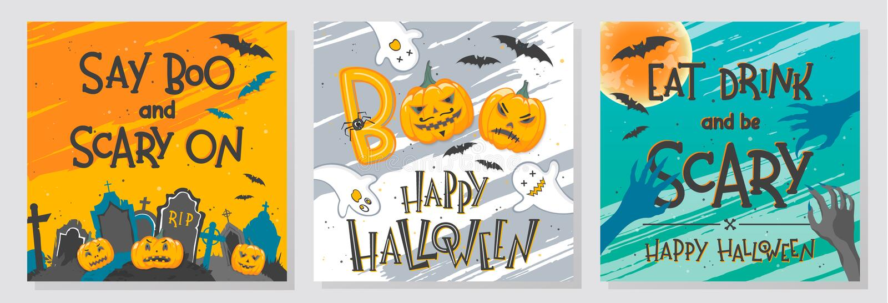 Vektor-Halloween-Illustrationen vektor abbildung