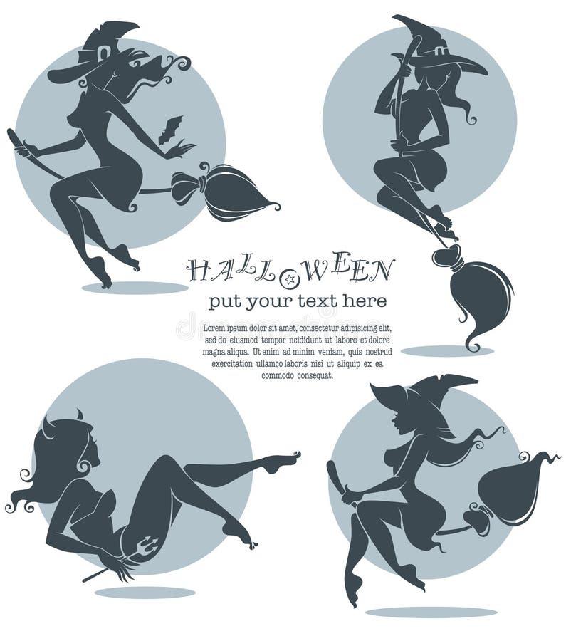 Vektor-Halloween-Sammlung vektor abbildung