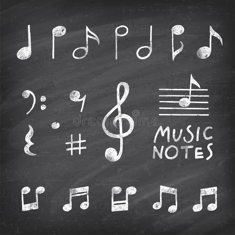 Vektor-Hand gezeichnete Musikanmerkungen lizenzfreie abbildung