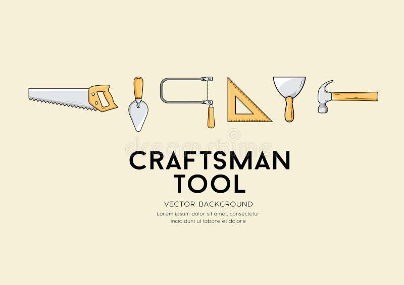 Vektor-Handwerkerwerkzeug-Entwurfshintergrund vektor abbildung