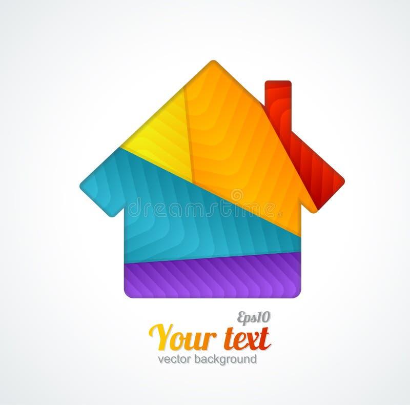 Vektor-Hausapplikationshintergrund vektor abbildung