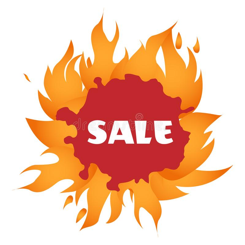 Vektor Heißes Verkaufs-Rabatt-Vektor-Schablonen-Design stock abbildung