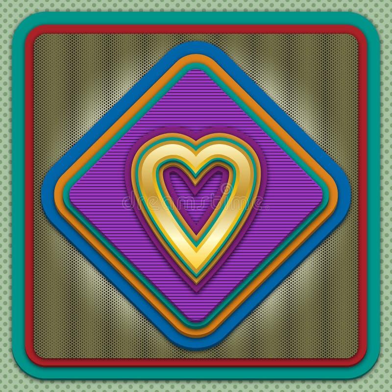 Vektor-Herz stockbilder