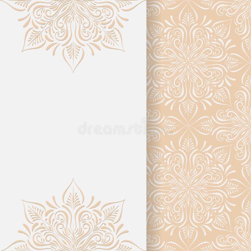 Vektor-Hochzeits-Einladungs-Schablone lizenzfreie abbildung
