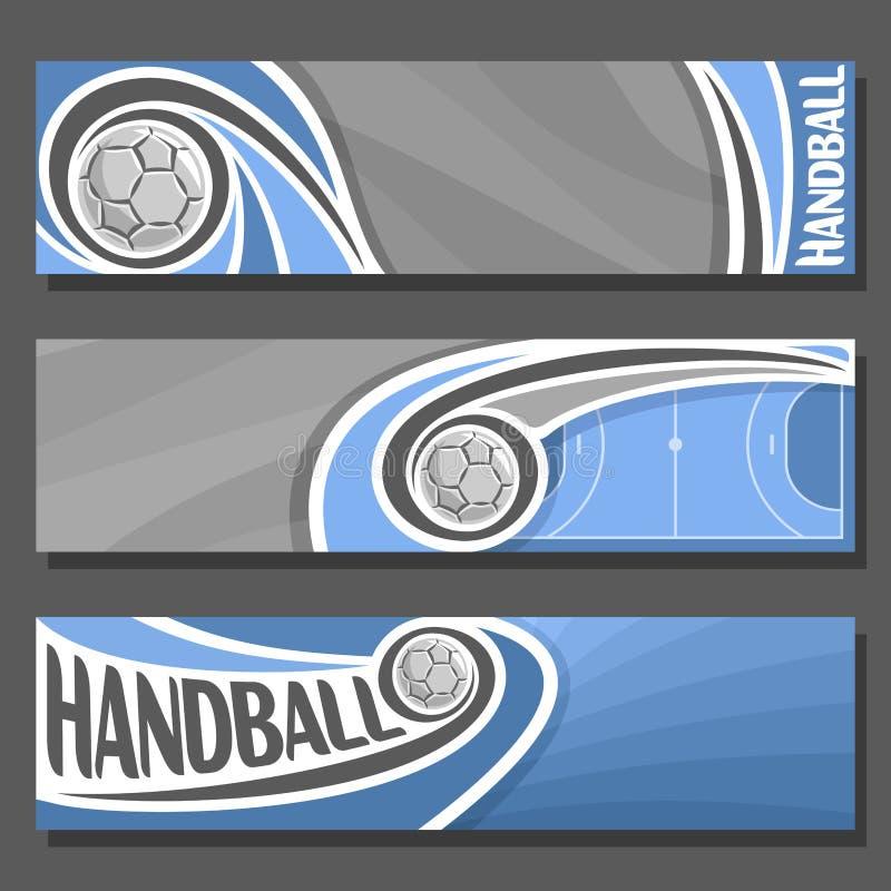 Vektor-horizontale Fahnen für Handball lizenzfreie abbildung