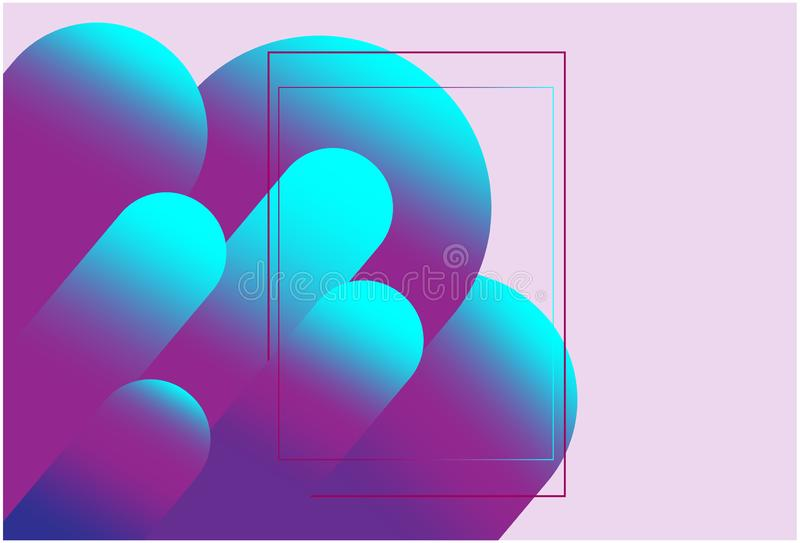vektor i lager för behandlig för abstrakt för bakgrund färgrik mapp för färgläggning lätt geometrisk Röd och mörk dynamisk formsa royaltyfri illustrationer
