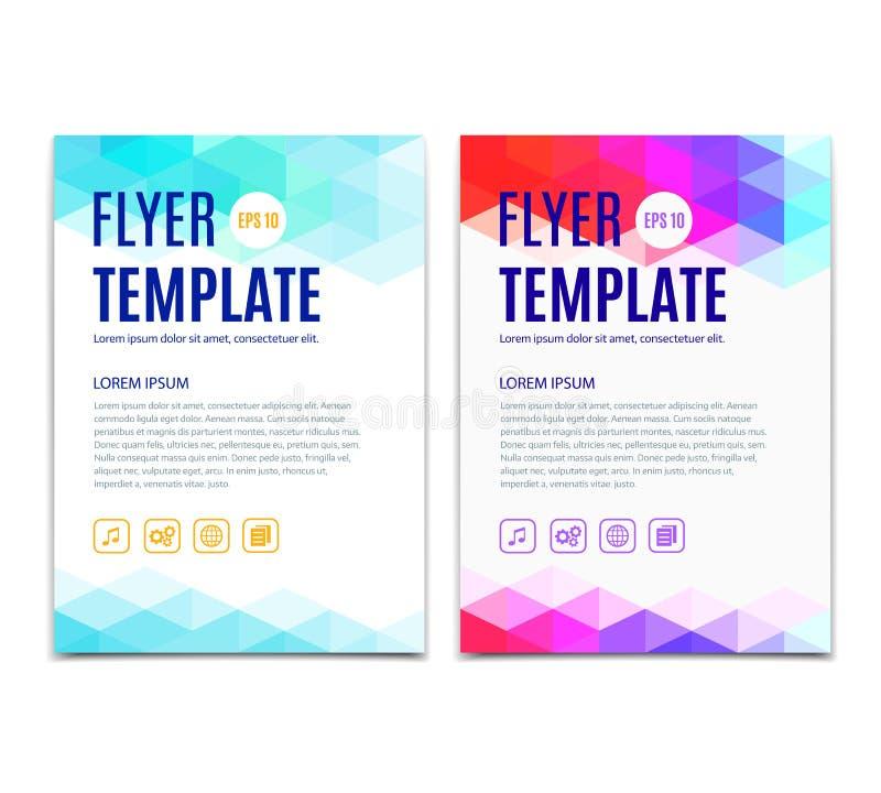 vektor i lager för behandlig för abstrakt för bakgrund färgrik mapp för färgläggning lätt geometrisk Vektormalldesign av reklambl royaltyfri illustrationer