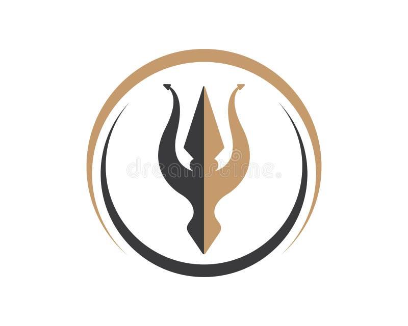 Vektor-Ikonenillustration Tridents Logo Template stock abbildung