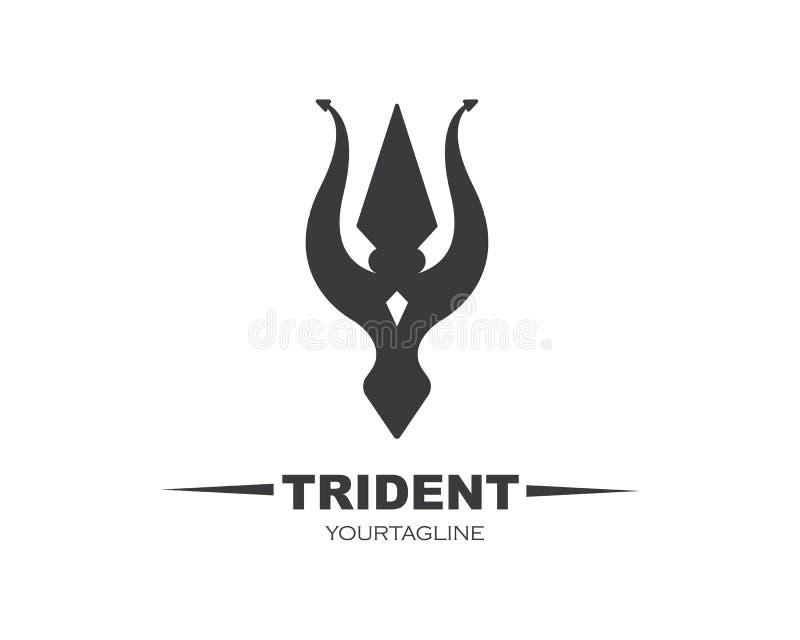 Vektor-Ikonenillustration Tridents Logo Template lizenzfreie abbildung
