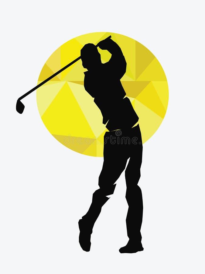 Vektor - illustration av golfsymboler royaltyfri illustrationer