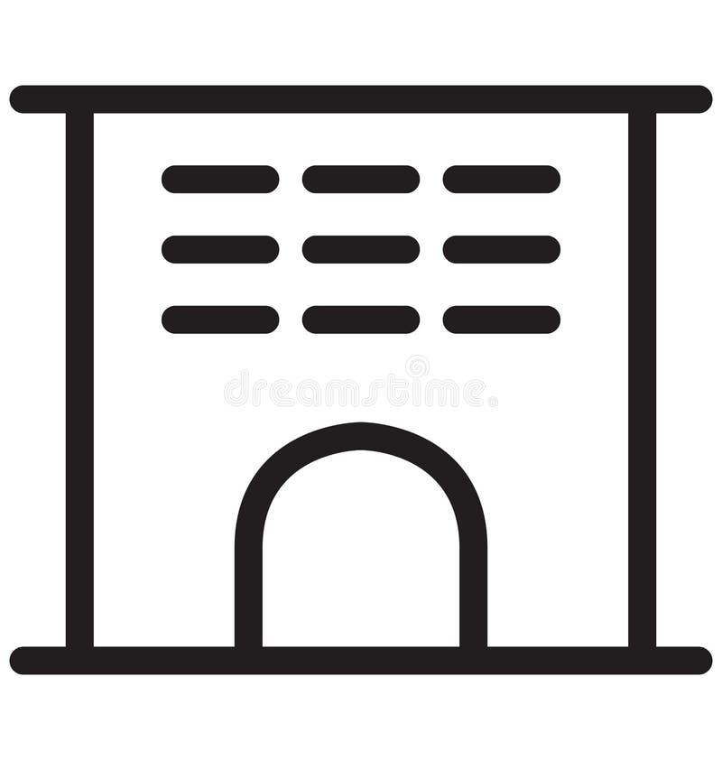 Vektor-Illustration der Gebäude-einzelnen Zeile lizenzfreie abbildung