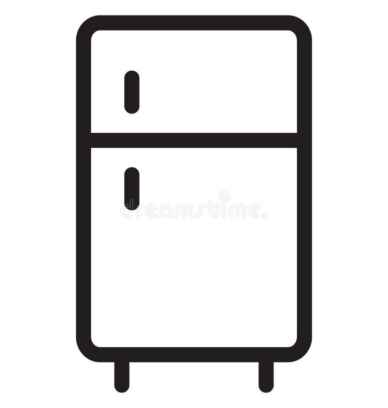 Vektor-Illustration der Kühlschrank-einzelnen Zeile stock abbildung
