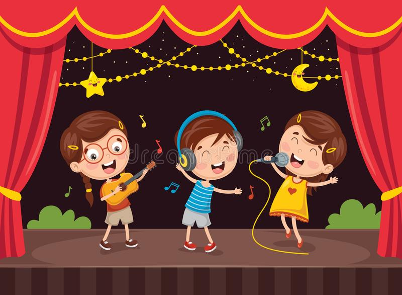 Vektor-Illustration der Kinderkunst lizenzfreie abbildung