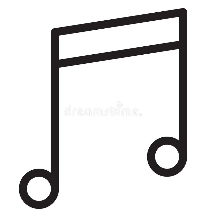 Vektor-Illustration der Musik-Anmerkungs-einzelnen Zeile vektor abbildung