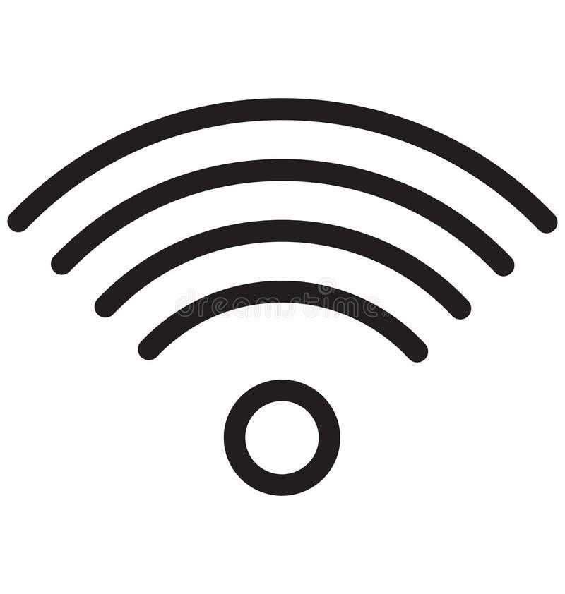 Vektor-Illustration der Wifi-Router-einzelnen Zeile stock abbildung