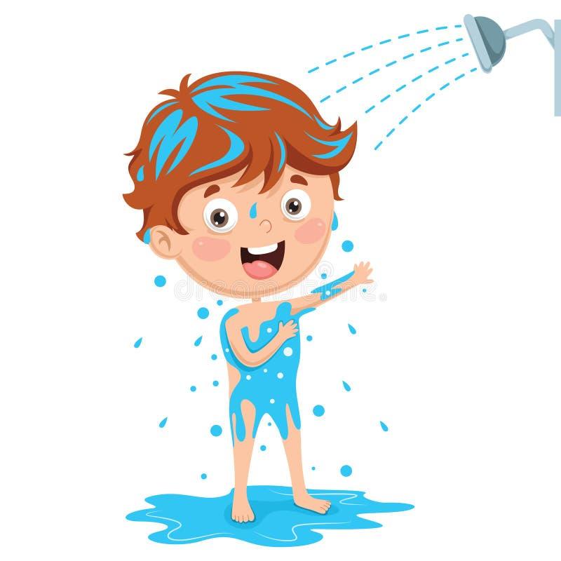 Vektor-Illustration des Kinderbadens vektor abbildung