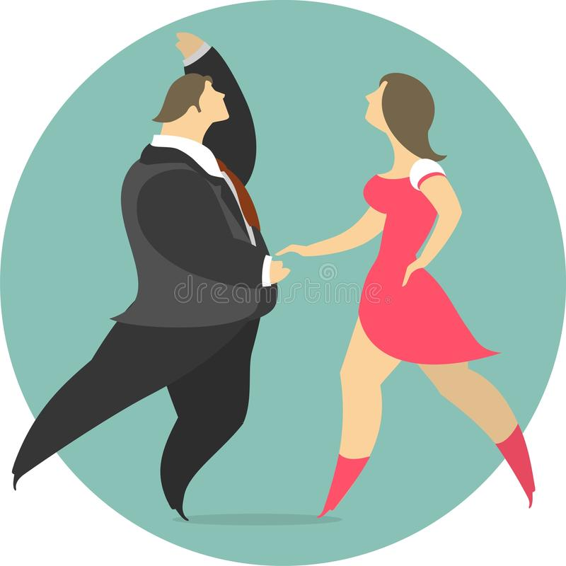 Download Vektor-Illustration Eines Paar-Tanzens In Einem Kreis-Emblem Vektor Abbildung - Illustration von schön, frau: 47100975