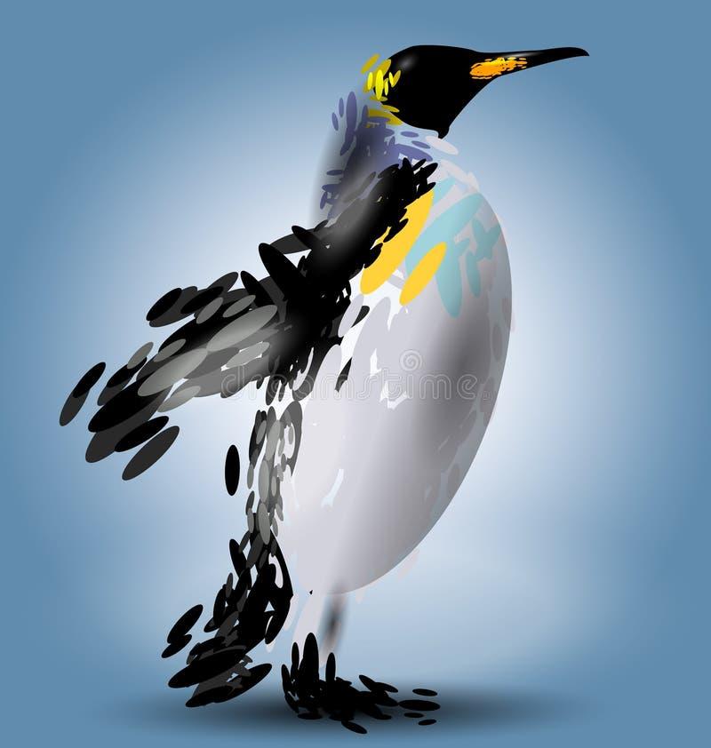 Vektor-Illustration eines Pinguins stock abbildung